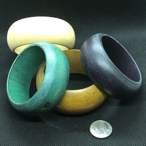 Four wooden bangles